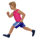 Person Running: Medium Skin Tone on Apple iOS 10.2