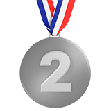 2nd Place Medal on Apple iOS 10.2