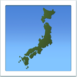 Map of Japan on Apple iOS 10.2