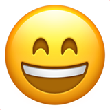 Grinning Face with Smiling Eyes on Apple iOS 10.2
