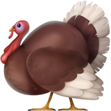 Turkey Emoji on Apple iOS 10.2