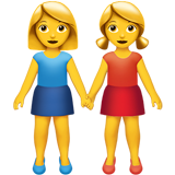 Women Holding Hands on Apple iOS 10.2