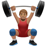 Person Lifting Weights: Medium Skin Tone on Apple iOS 10.2