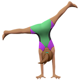 Woman Cartwheeling: Medium Skin Tone on Apple iOS 10.2