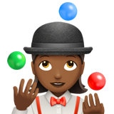 Woman Juggling: Medium-Dark Skin Tone on Apple iOS 10.2