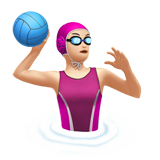 Woman Playing Water Polo: Light Skin Tone on Apple iOS 10.2