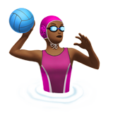 Woman Playing Water Polo: Medium-Dark Skin Tone on Apple iOS 10.2