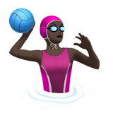 Woman Playing Water Polo: Dark Skin Tone on Apple iOS 10.2