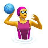 Woman Playing Water Polo on Apple iOS 10.2
