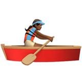 Woman Rowing Boat: Medium-Dark Skin Tone on Apple iOS 10.2