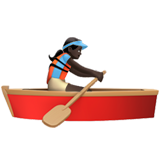Woman Rowing Boat: Dark Skin Tone on Apple iOS 10.2
