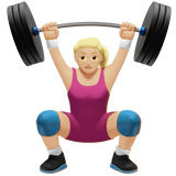 Woman Lifting Weights: Medium-Light Skin Tone on Apple iOS 10.2