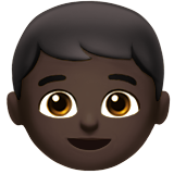 Boy: Dark Skin Tone on Apple iOS 10.3