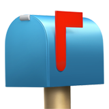 Closed Mailbox With Raised Flag on Apple iOS 10.3