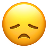 Disappointed Face on Apple iOS 10.3