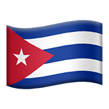 Flag: Cuba on Apple iOS 10.3