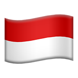 Flag: Indonesia on Apple iOS 10.3