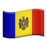 Flag: Moldova on Apple iOS 10.3