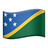 Flag: Solomon Islands on Apple iOS 10.3