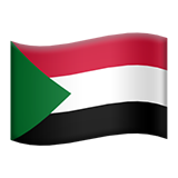 Flag: Sudan on Apple iOS 10.3
