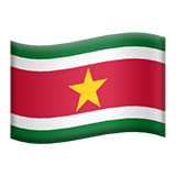 Flag: Suriname on Apple iOS 10.3