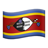 Flag: Eswatini on Apple iOS 10.3