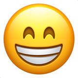 Beaming Face With Smiling Eyes on Apple iOS 10.3
