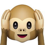 Hear-No-Evil Monkey on Apple iOS 10.3