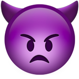 Angry Face with Horns on Apple iOS 10.3