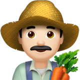 Man Farmer: Light Skin Tone on Apple iOS 10.3