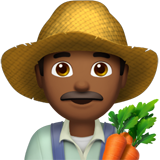Man Farmer: Medium-Dark Skin Tone on Apple iOS 10.3