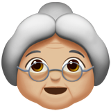 Old Woman: Medium-Light Skin Tone on Apple iOS 10.3