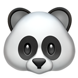 Panda Face on Apple iOS 10.3