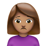 Person Frowning: Medium Skin Tone on Apple iOS 10.3