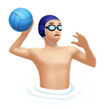 Person Playing Water Polo: Light Skin Tone on Apple iOS 10.3
