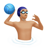 Person Playing Water Polo: Medium-Light Skin Tone on Apple iOS 10.3