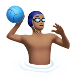 Person Playing Water Polo: Medium Skin Tone on Apple iOS 10.3