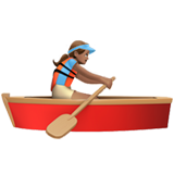 Woman Rowing Boat: Medium Skin Tone on Apple iOS 10.3