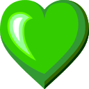 Green Heart on au by KDDI Type D-3