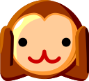 Hear-No-Evil Monkey on au by KDDI Type D-3