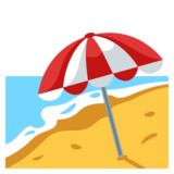 Beach With Umbrella on JoyPixels 3.1