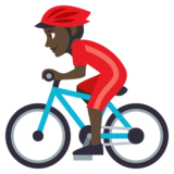 Person Biking: Dark Skin Tone on JoyPixels 3.1