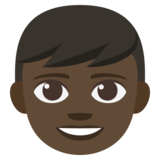 Boy: Dark Skin Tone on JoyPixels 3.1