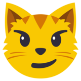 Cat with Wry Smile on JoyPixels 3.1