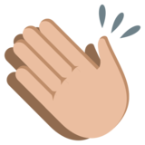 Clapping Hands: Medium-Light Skin Tone on JoyPixels 3.1