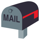 Closed Mailbox with Lowered Flag on JoyPixels 3.1