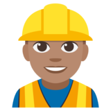 Construction Worker: Medium Skin Tone on JoyPixels 3.1