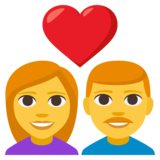 Couple with Heart: Woman, Man on JoyPixels 3.1