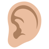 Ear: Medium-Light Skin Tone on JoyPixels 3.1