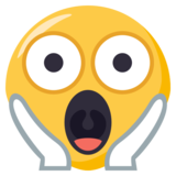 Face Screaming in Fear on EmojiOne 3.1